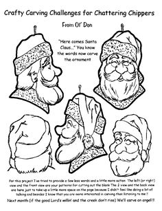 Carving a Santa instructions free patterns. https://www.facebook.com/Bill.Sculptures.tronconneuse.Quebec