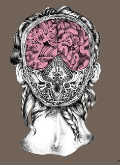 Brain Study by Ella Ginn – Street Anatomy Brain Illustration, Medical Illustration, Crane, Character Creation, Character Design, Medical Art, Anatomy Art, Wedding Art, Skull And Bones