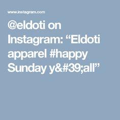 "@eldoti on Instagram: ""Eldoti apparel #happy Sunday  y'all"" Happy Sunday, Sewing, Instagram, Dressmaking, Couture, Stitching, Sew, Costura, Needlework"
