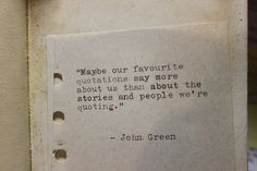 #johngreen #john #green #favourite #us #people #stories