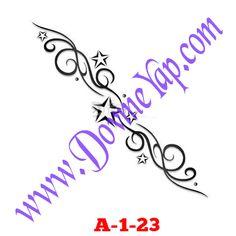 Yıldız Geçici Dövme Şablon Örneği Model No: A-1-23