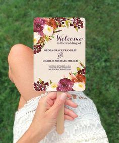 Wedding Ideas - Wedding Ideas on a Budget - Wedding Fan Program by CreativeUnionDesign