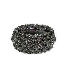 "Fashion Stretch Bracelet; 1.25"" L; Gunmetal; Grey Rhinestones; Eileen's Collection. $28.99"