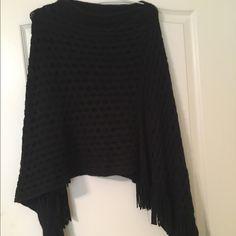 Black poncho Beautiful poncho Sweaters Shrugs & Ponchos