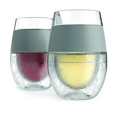 Wine glasses that chill your wine