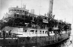 Exodus 1947 was a ship that carried Jewish emigrants that left France with the intent of taking its passengers to the British mandate for Palestine on July 11, 1947. Most of the emigrants were Holocaust survivor refugees who had no legal immigration certificates to Palestine. Following wide media coverage, the British Royal Navy seized the ship and deported all its passengers back to Europe.