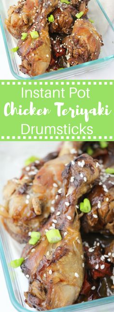 Take out is over rated (and over priced)! Instant Pot Chicken Teriyaki Drumsticks are the perfect solution for those nights you are craving take out but don't have the time or budget!