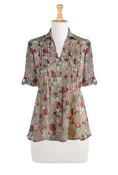 Victorian florals top-I don't wear anything brown, unless it's in the print, not the background. But I like the style... Brown does not like me.