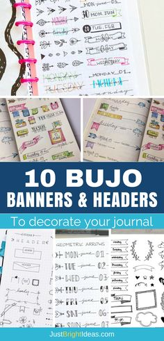You don't have to be an artist to bring your BuJo to life. Check out some of our favourite Bullet Journal banners and headers and tips to get you started.