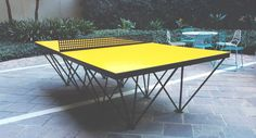 An Outdoor Ping Pong Table for Design Lovers