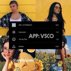 Filtro ótimo para o verão☀️🔥 Vsco Cam Filters, Vsco Filter, Photography Filters, Photography Editing, Apps Fotografia, Vsco Effects, Vsco Themes, Photo Editing Vsco, Photography Challenge