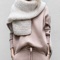 Blush oversized sweater. (Can be paired with printed trousers)