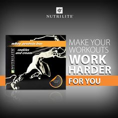Nutrilite US   Packed with flavor, antioxidants, amino acids, and 24-25 grams of protein per bar. It's time to make your workouts work harder for you. www.Amway.at/user/maurermarco#6963376