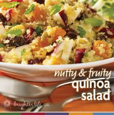 This month's delicious & healthy #recipe stars quinoa, fruit and maple syrup.