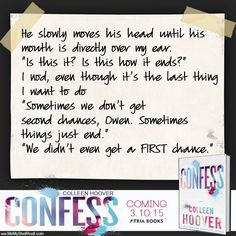 Confess by Colleen Hoover  http://catalog.syossetlibrary.org/search?/c[new+adult]/c[new+adult]/1%2C177%2C177%2CE/frameset&FF=c[new+adult]+fic+hoover+%3Bpap&19%2C19%2C/indexsort=r