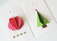 3-D gift tags . .very cute idea!