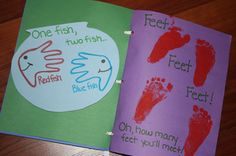 Great idea to make a family Seuss book.