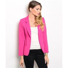 BOGO 50% Pink Blazer This blazer is a MUST HAVE for any fashionista! Sleeves are about 3/4 length. Please do not buy this listing. Comment when you're ready to purchase & I'll make you a new listing ❤️ Jackets & Coats Blazers