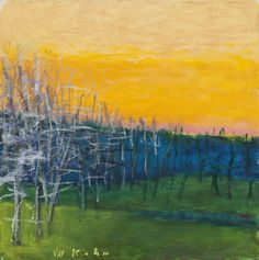 "Paintings - Wolf Kahn ""Early Dawn"""