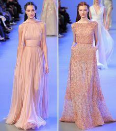 Os (últimos) desfiles do Elie Saab têm aquele perfume de déjà vu, mas não deixam de apresentar belíssimos vestidos na passarela! A coleção couture spring 2