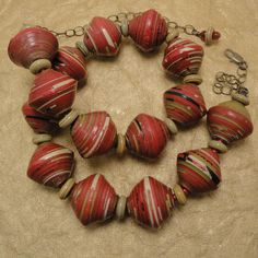 African Paper Bead Necklace. $39.00, via Etsy.