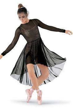 Long Sleeve High-Low Mesh Overdress | Balera™