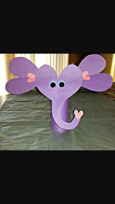 Valentines Day Elephant Craft For Kids (Toilet Paper Roll or Card) - Crafty Morning Daycare Crafts, Fun Crafts For Kids, Baby Crafts, Preschool Crafts, Zoo Crafts, Daycare Ideas, Animal Crafts, Toilet Paper Roll Crafts, Paper Crafts