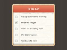 To Do List by Ali Akbar