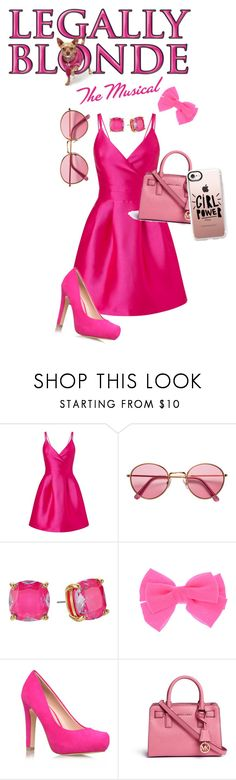 """""""The Old Elle Woods"""" by glamourgirl0416 ❤ liked on Polyvore featuring Mus, Miss Selfridge, H&M, Kate Spade, Miss KG, Michael Kors and Casetify"""