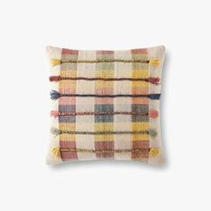 PILLOWS | Loloi Rugs Toss Pillows, Cotton Pillow, Modern Rugs, Rustic Style, Hand Embroidery, Hand Weaving, Pillow Covers, Area Rugs, Applique