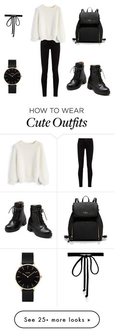 """""""A cute and simple outfit"""" by sarahofficial16 on Polyvore featuring Gucci, Chicwish, CLUSE and Joomi Lim"""
