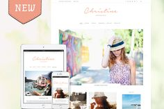 New WordPress Theme Design! Christine is a lovely light & bright WordPress theme, tailored to let your content sparkle with style!