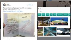 Taiwan e-passports include a picture of Dulles Airport USA  Google Images may be to blame   Taiwan e-passports include a picture of Dulles Airport USA  Google Images may be to blame  January 1 2018 by John Aldred Leave a Comment   Well this is a bit of an embarrassment. Taiwans new e-passports have been released and then quickly recalled after a picture of Dulles Airport near Washington D.C. was printed as the backdrop to one of its pages. Mashable believes that it may be the result of a…
