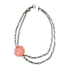 Vintage Floral Side Necklace - Tangerine.  #necklaces #jewelry 9thelm.com