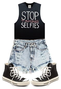 """The Selfie Suicides"" by mrsalwaysforever ❤ liked on Polyvore featuring Converse, women's clothing, women, female, woman, misses and juniors"