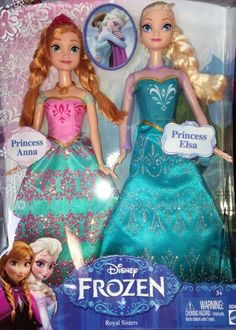 "Disney Frozen Royal Sisters Princess Anna & Elsa Dolls Mattel NEW  In Hand 12"" #Disney"