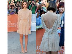 elie saab couture cream lace short dress - keira knightley