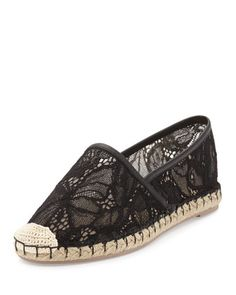 Butterfly+Lace+Flat+Espadrille+by+Valentino+at+Bergdorf+Goodman.