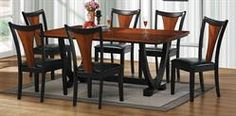 Max Furniture 7pc Boyer Dining Room Set With its distinctive look and deep finish, the Boyer dining room collection is an elegant choice. http://www.maxfurniture.com/detail-Dining-Dining-Sets-7pc-Boyer-Dining-Room-Set-186-43396.aspx