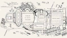 Plan of Imperial Fora, Rome