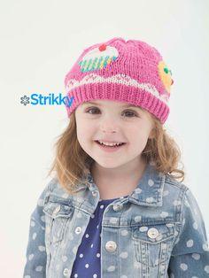 «Сладенькая» шапочка для девочки от Amy Bahrt, вязаная спицами и крючком