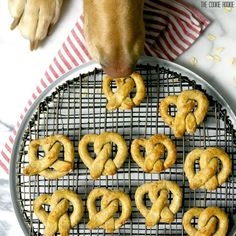 Something for the pups- Oat and Apple Pretzel Dog Treats from The Cookie Rookie (@beckygallhardin). Gluten Free, Homemade
