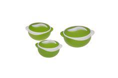 Θερμός φαγητού Parisa matt green set(500ml,1000ml,1500ml)