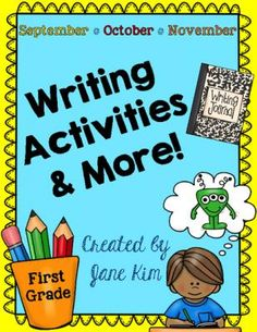 Writing Activities and More: September, October, & November~K to Grade 1 |