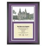 Northwestern University Diploma Frame with NU Lithograph Art PrintBy Old School Diploma Frame Co.