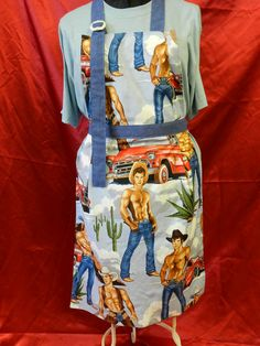 Full Apron Rugged Hunks Apron Save a Horse by TheElliottsCloset, $24.99