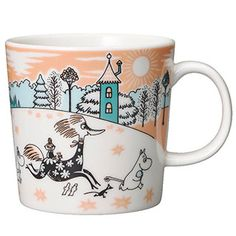 Moomin Mugs from Arabia – A Complete Overview Moomin Valley Park Japan The motif comes from an advertisement for a Swedish bank in The mug is only for sale in the Moomin theme park in Hanno outside of Tokyo. Moomin Mugs, Moomin Valley, Valley Park, Tove Jansson, Helsingborg, Crafts To Do, Crock, Christmas Gifts, Tableware