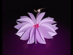 Origami 12 petals flower. Origami snowflake (Dennis Walker). Christmas decor. - YouTube