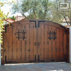 double opening wooden gates - Google Search