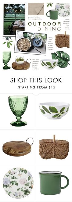 """""""Summer Outdoor Dining"""" by c-silla ❤ liked on Polyvore featuring interior, interiors, interior design, home, home decor, interior decorating, Villeroy & Boch, Kate Spade, Pier 1 Imports and Ted Baker"""